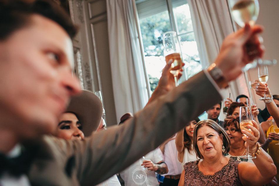 Brindis, casamiento en Palacio Duhau Park Hyatt Bs As, fotoperiodismo de bodas, Norman Parunov
