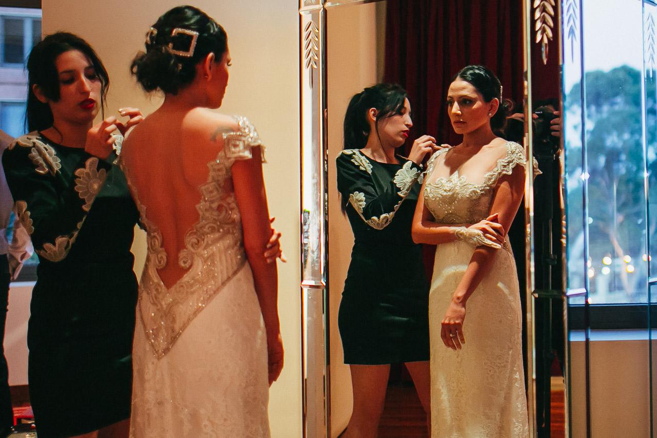 Getting ready Faena Hotel, Boda Yacht Club Puerto Madero, fotógrafo de bodas, Norman Parunov